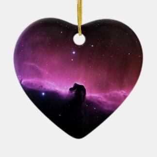 Horsehead Nebelfleck Barnard 33 die NASA Keramik Herz-Ornament