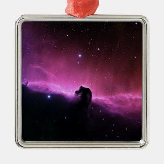 Horsehead Nebelfleck Barnard 33 die NASA Quadratisches Silberfarbenes Ornament