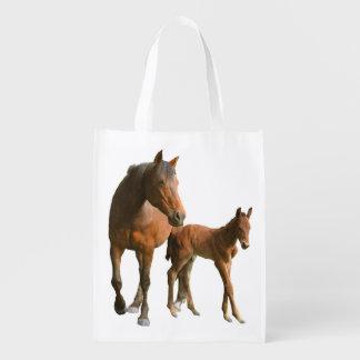Horses Wiederverwendbare Einkaufstasche