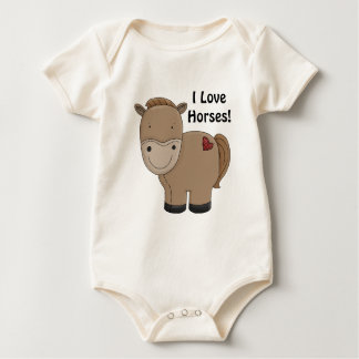 Horsey Säuglings-Shirt Baby Strampler