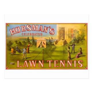 Horsmans Rasen-Tennis Postkarte