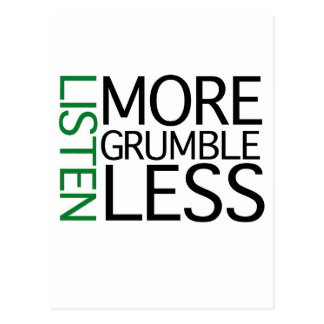Hört mehr Murren weniger (grüne Klugheit) Postkarte