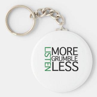 Hört mehr Murren weniger (grüne Klugheit) Schlüsselband
