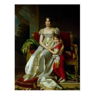 Hortense de Beauharnais und ihr Sohn Postkarte
