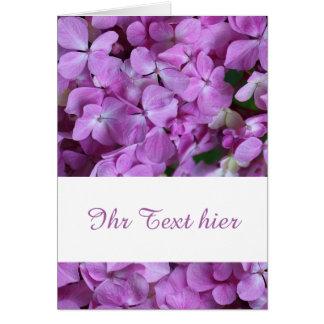 hortensie grußkarte