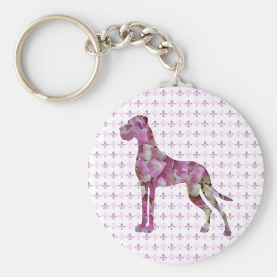 Hortensien Dogge Schlüsselanhänger