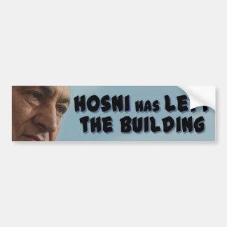 Hosni hat das Gebäude verlassen Autoaufkleber