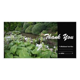 Hosta in einem Zen-Garten 2 danken Ihnen Karte