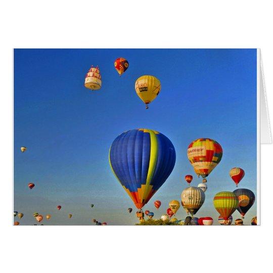 Hot air balloons Card Karte