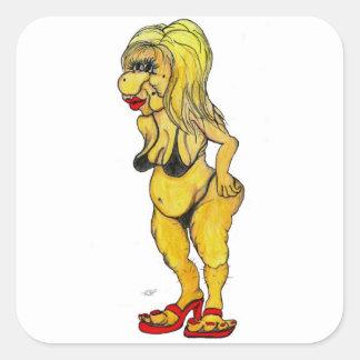 Hot bikini - The NEXT top model Quadratischer Aufkleber