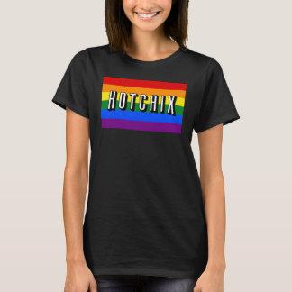"""""""HOTCHIX"""" LGBT Regenbogen-Flaggen-T - Shirt"""