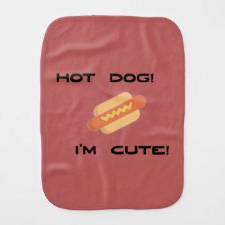 Hotdog bin ich niedlich baby spucktuch