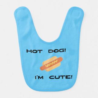 Hotdog bin ich niedlich babylätzchen