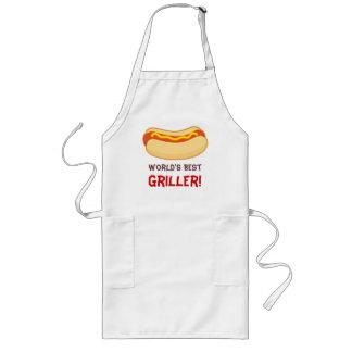 Hotdog GRILLEN, die Schürze-Weltbestes Geschenk gr Lange Schürze