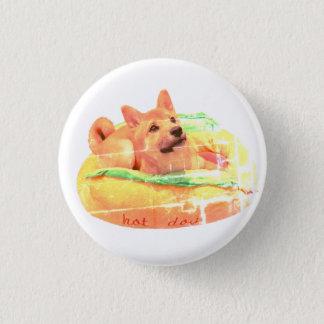Hotdog Shiba Abzeichen Runder Button 3,2 Cm