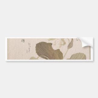Hotei Blumen - Kubo Shunman (japanisch) Autoaufkleber