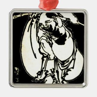 Hotei durch Katsushika, Hokusai Ukiyo-e Silbernes Ornament