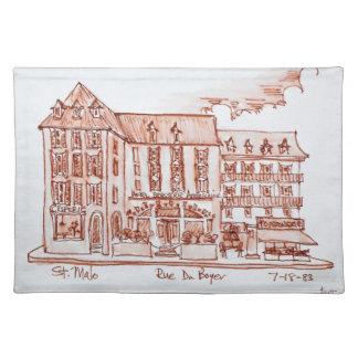 Hotel-Bierstube Armoricaine | St. Malo, Bretagne Tischset