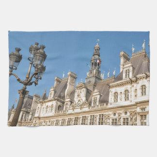 Hotel de Ville (Rathaus) in Paris, Frankreich Handtuch