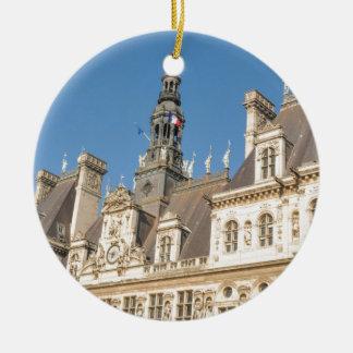 Hotel de Ville (Rathaus) in Paris, Frankreich Keramik Ornament