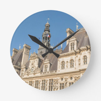 Hotel de Ville (Rathaus) in Paris, Frankreich Runde Wanduhr