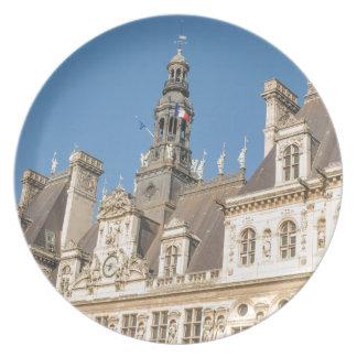 Hotel de Ville (Rathaus) in Paris, Frankreich Teller
