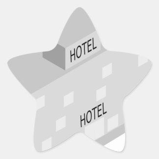 Hotel-Gebäude Stern-Aufkleber
