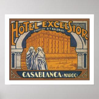 Hotel-Hobelspäne Casablanca Plakatdruck
