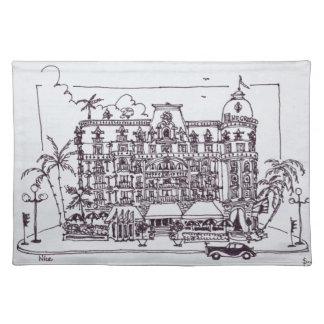 Hotel Negresco englische Promenade Nizza |, Tischset