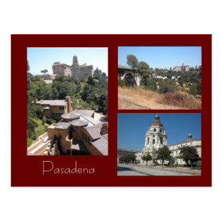 Hotel, Rathaus u. Brücken-Pasadena-Foto-Postkarte Postkarte