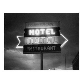 Hotel Sign, 1942 Postkarte