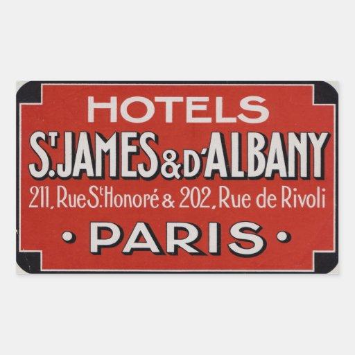 Hotels St James u. d'Albaby (Paris Frankreich) Rechteckige Sticker
