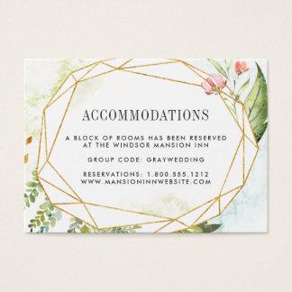 Hotelunterbringungs-Karten des Terrarium-| Wedding Visitenkarte