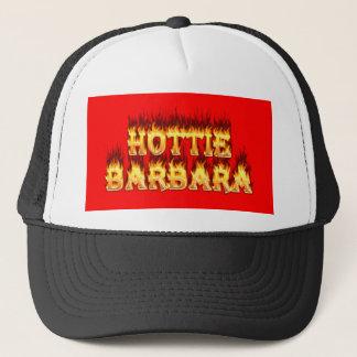 Hottie Barbara Feuer und Flammen Truckerkappe