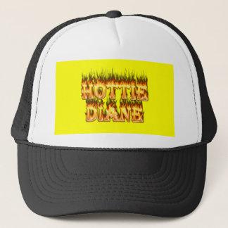 Hottie Diane Feuer und Flammen Truckerkappe