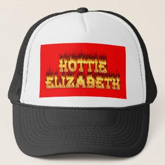 Hottie Elizabeth Feuer und Flammen Truckerkappe
