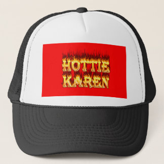Hottie Karen Feuer und Flammen Truckerkappe