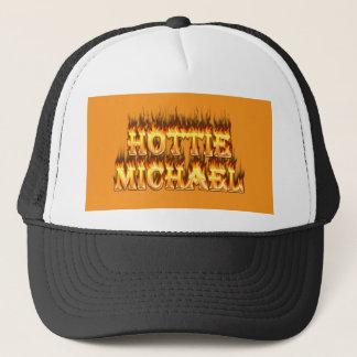 Hottie Michael Feuer und Flammen Truckerkappe