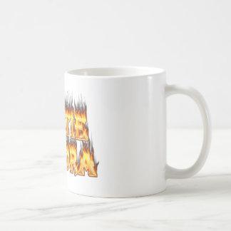 Hottie Sandra Feuer und Flammen Kaffeetasse
