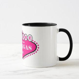 Hotty rosa Las Vegas Zeichen-Logo-Tasse Tasse