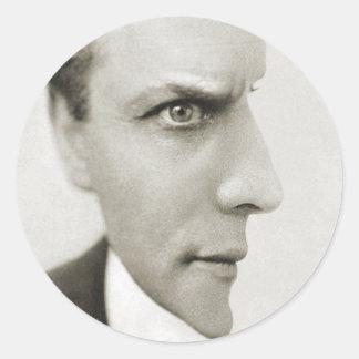 Houdini optische Täuschung Runder Aufkleber
