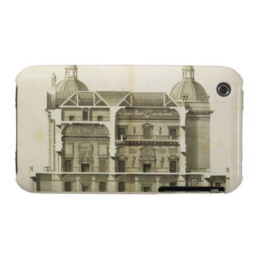 Houghton Hall: Querschnitt des Halls und des Salon iPhone 3 Case-Mate Hüllen