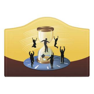 Hourglass-Geschäft Türschild