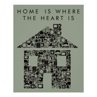 House Warming Home Quote Poster Print