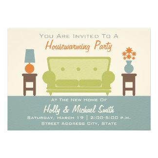Housewarming-Party Einladung - Wohnzimmer-Sofa