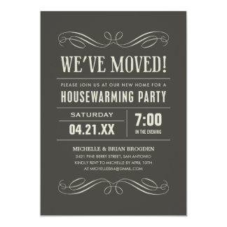 Housewarming-Party lädt ein 12,7 X 17,8 Cm Einladungskarte