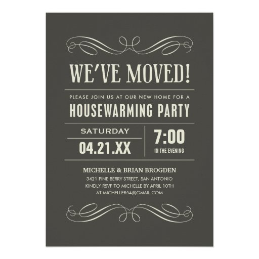Housewarming-Party lädt ein Individuelle Ankündigung
