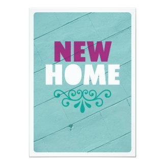 Housewarmingeinladung Zuhause des grafischen 12,7 X 17,8 Cm Einladungskarte