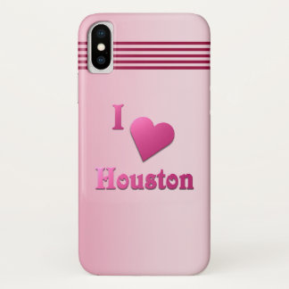 Houston -- Pink iPhone X Hülle