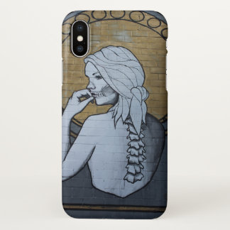 Houston-Skelett-Dame iPhone X Hülle